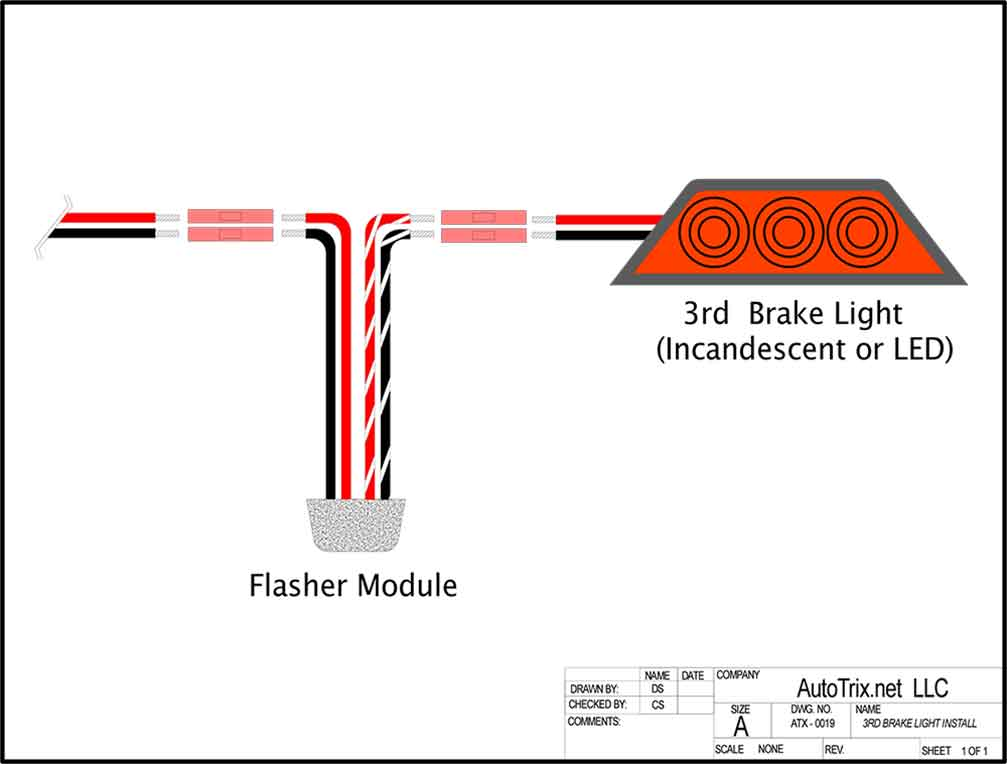 3rd Brake Light Flasher Install Instructions And Electrical Diagram